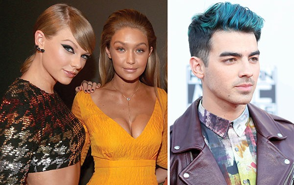 Taylor Swift, Gigi Hadid e Joe jonas (Foto: Getty Images)