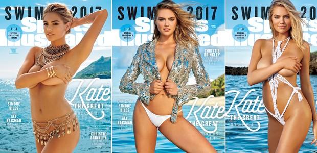 Kate Upton na capa da SI Swinsuit 2017 (Foto: reprodução )