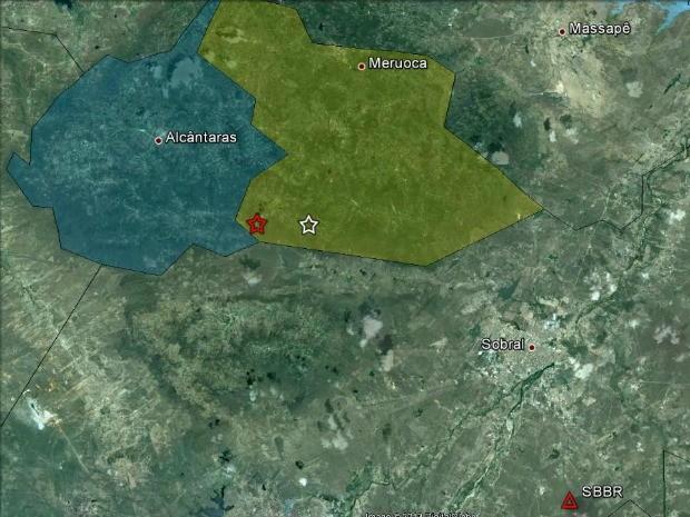 Tremor atinge Sobral e cidades da região Norte do Ceará (Foto: Google/Reprodução)