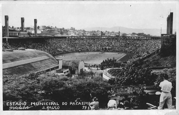 Estádio do Pacaembu na década de 70 (Foto: Fotolabor/Divulgação)