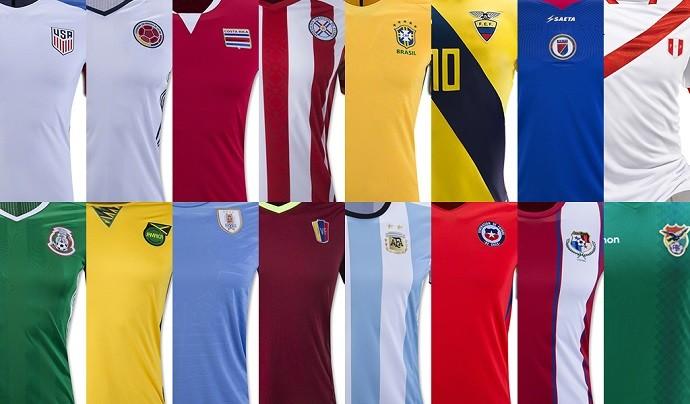Camisas da Copa América Centenário