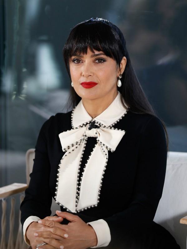 Salma Hayek em evento do Festival de Cannes nesta terça-feira (22) (Foto: Getty Images)