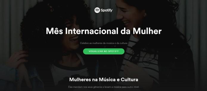Spotify faz homenagem ao Dia Internacional da Mulher com ranking do poder feminino na música (Foto: Reprodução/Barbara Mannara)