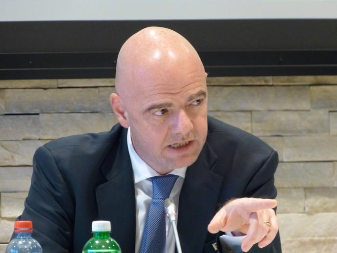 Gianni Infantino, presidente da Fifa, explicou as mudanças em andamento na entidade (Foto: Vicente Seda)