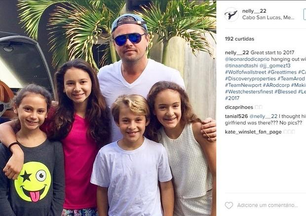 A foto compartilhada pelo fã Nelson (@nelly__22) no Instagram mostra Leonardo DiCaprio em Cabo San Lucas, no México, nesta segunda-feira (02.01) (Foto: Reprodução/ Instagram)