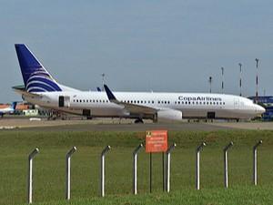 Avião que ia do Panamá para SP faz desvio e pousa em Campo Grande  (Foto: Reprodução/TV Morena)