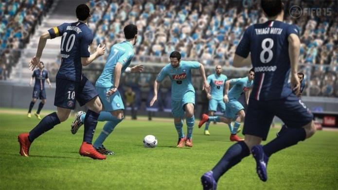 Napoli e PSG Jogam (Foto: Fifa 15 no Xbox 360 e PS3 (Foto: Divulgação))