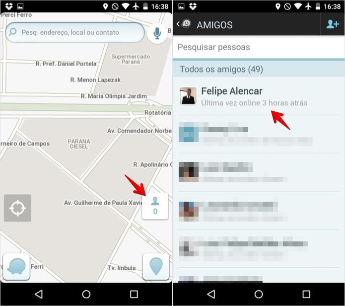 Acesse a lista de contatos e encontre o amigo que você quer contactar (Foto: Reprodução/Helito Bijora)