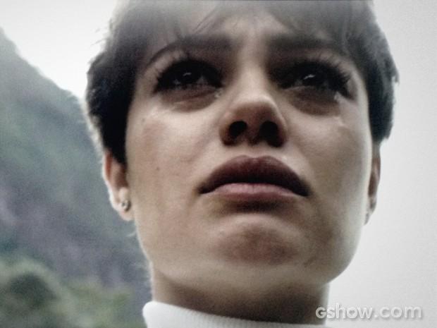 Duda chora a morte de Bruno (Foto: O Rebu / TV Globo)