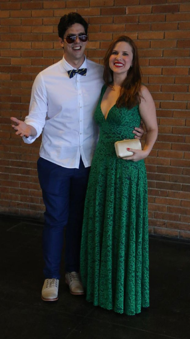 Rafael Infante e Tatiana Novais (Foto: AgNews / Daniel Pinheiro)