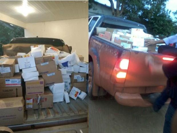 Quantidade de remédios encontrados ainda não foi contabilizada pela polícia (Foto: Divulgação/MP)