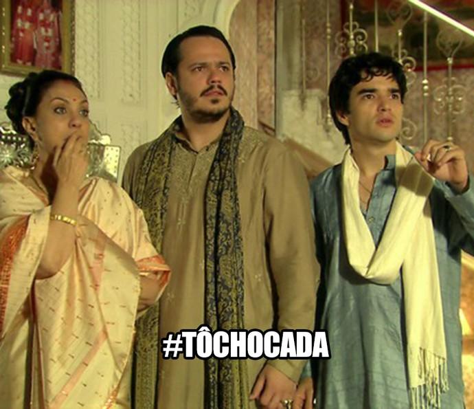 Família Ananda ficou chocada com o babado sobre Laksmi (Foto: TV Globo)