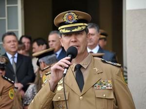 Roberson Luiz Bondaruk deixa o Comando Geral após quase dois anos. (Foto: Polícia Militar/Divulgação)