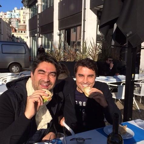 Zeca grava com Ricardo Pereira em Lisboa (Foto: Arquivo pessoal)