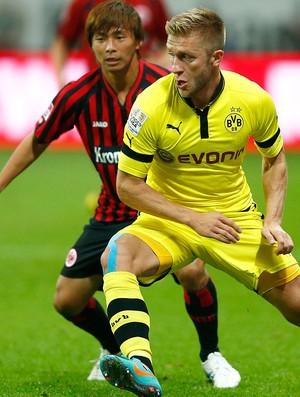 Takashi Inui e Kuba Blaszczykowski, Borussia Dortmund x Eintracht Frankfurt (Foto: Agência Reuters)