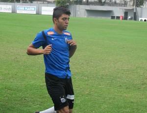 Atacante Gabriel treina no CT Rei Pelé (Foto: Fernando Prandi)
