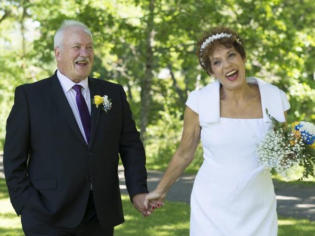 Casal que se conheceu há 52 anos em Mogi das Cruzes, se casa na Europa. (Foto: Silvia Alcantara/Arquivo Pessoal)