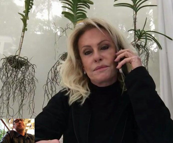 Ana Maria fala com André Marques sobre a morte de Domingos Montagner (Foto: TV Globo)