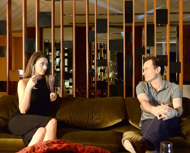 Maria Fernanda Cândido e Enrique Diaz fazem parte do elenco de Felizes para Sempre (Foto: Zé Paulo Cardeal / TV Globo)