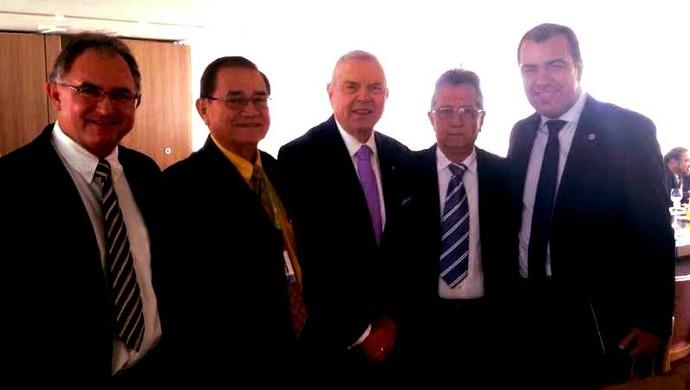 Pedro Minowa e outros dirigentes do Remo estiveram com o presidente da CBF (Foto: Divulgação/site oficial do Remo)