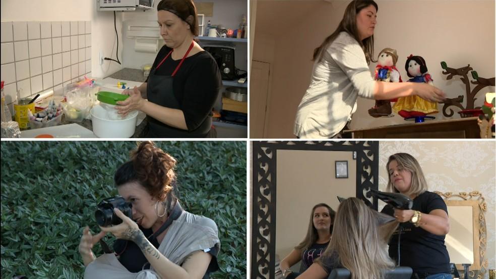 Cooperativa reúne mães de diversos setores, como confeitaria, decoração, fotografia e beleza (Foto: Reprodução/EPTV)
