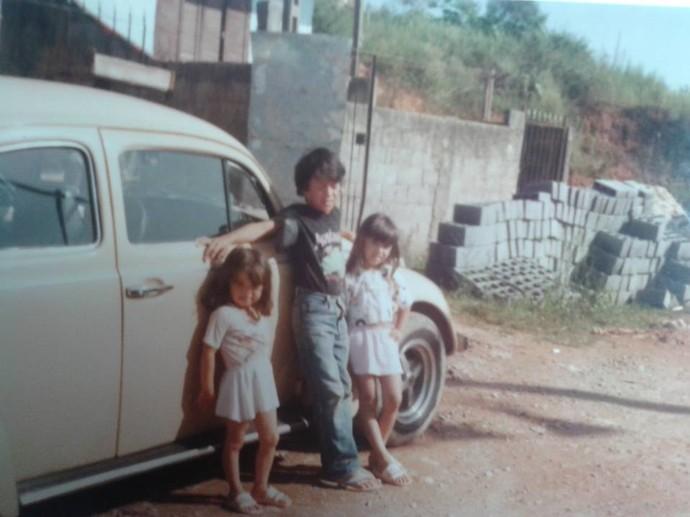 A residente Edilaine tem história com fusca desde criança (Foto: Divulgação / TV Gazeta ES)
