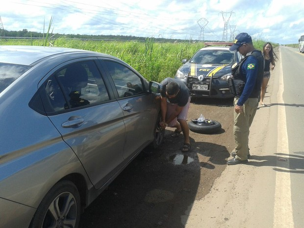 Cinco motoristas tiveram prejuízos na viagem do feriado no Maranhão (Foto: Divulgação/PRF-MA)