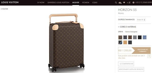 Mala usada por Millie Bobby Brown custa mais de 11 mil reais (Foto: Reprodução)