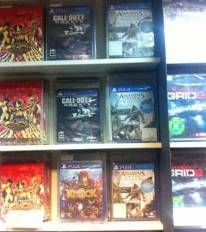 Loja Fnac da Av. Paulista tinha jogos de PS4 quase 4 meses após lançamento do videogame no país (Foto: Gustavo Petró/G1)