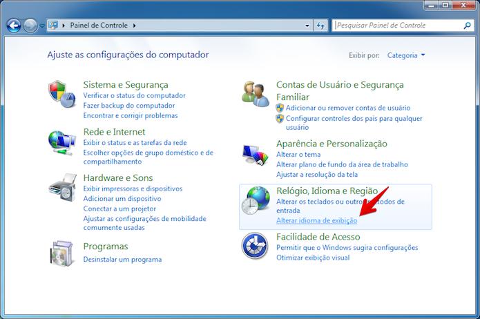 Seção de idiomas do Windows (Foto: Reprodução/Helito Bijora)