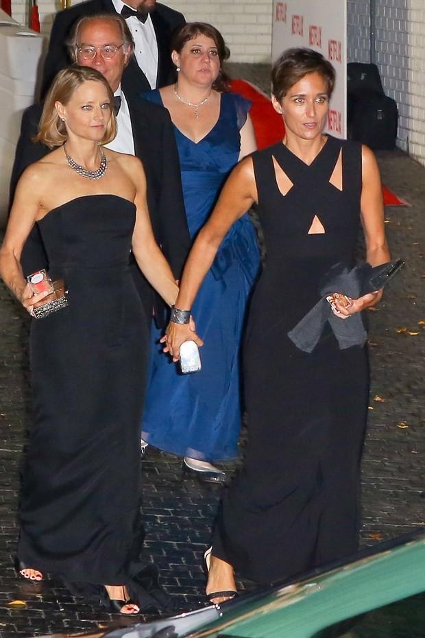 Jodie Foster e a mulher, Alexandra Hedison  (Foto: Juliano-FK/X17online.com)