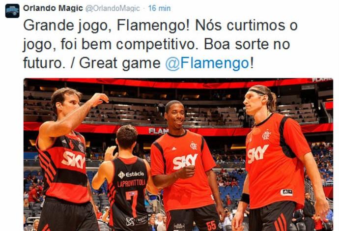 Flamengo ganha carinho do Magic no Twitter (Foto: Reprodução)