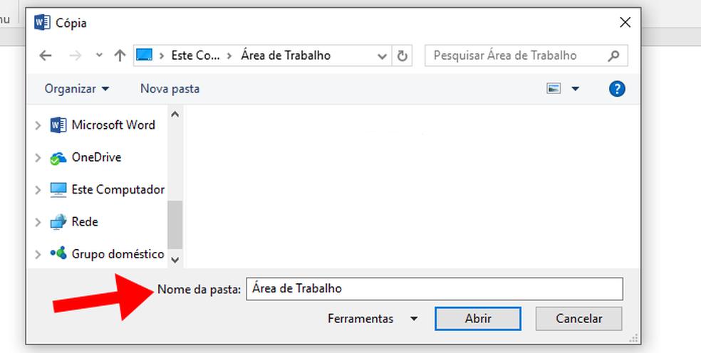 Selecione a pasta dos arquivos a serem editados (Foto: (Foto: Reprodução/Paulo Alves))