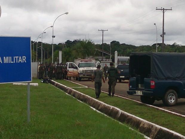 Crime parou atividades na base aérea de Rondônia (Foto: Assem Neto)