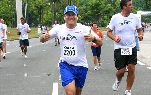 Rodrigo Damasceno corrida Eu Atleta (Foto: Divulgação / Arquivo Pessoal)