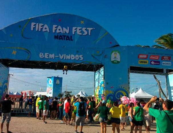 Fifa Fan Fest Natal (Foto: Rafael Barbosa/G1)