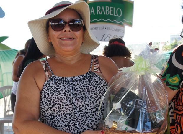 Jaidete Martins ainda levou prêmios dos patrocinadores (Foto: Daniel Sousa/TV Cabo Branco)