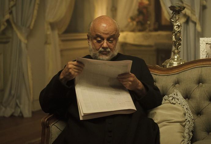 Mario Borges será o Padre Anselmo, confidente de Mariana (Foto: Caiuá Franco/TV Globo)