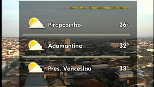Confira a previsão do tempo para o Oeste Paulista