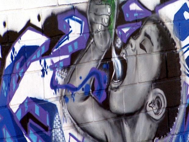 Mais de 60 grafiteiros participaram do projeto (Foto: Reprodução/ EPTV)