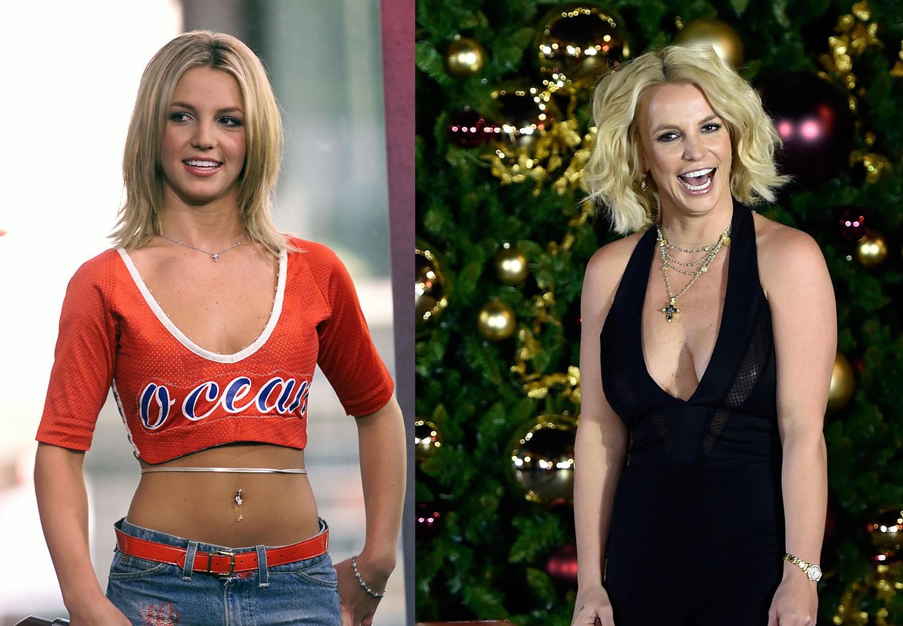 Britney Spears em 2000 e em 2015 (Foto: Getty Images)