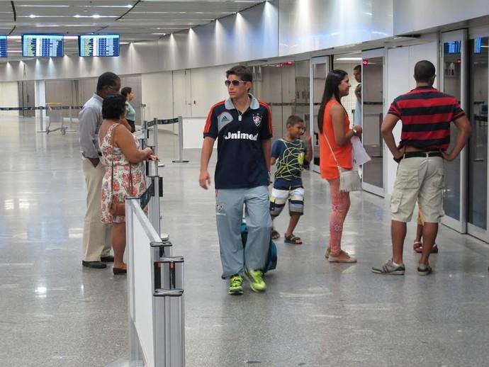Conca, desembarque do Fluminense (Foto: Richard Souza)