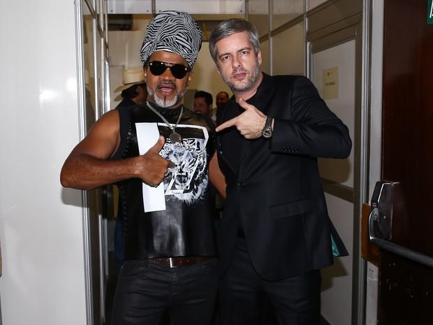 Carlinhos Brown e Victor em festa em Uberlândia, Minas Gerais (Foto: Manuela Scarpa/ Brazil News)