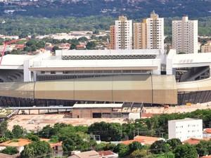 Arena Pantanal, estádio da Copa do Mundo de 2014 em Cuiabá-MT. (Foto: Renê Dióz / G1)