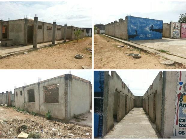 Alas estariam em construção há quatro anos, conforme o agente penitenciário (Foto: Arquivo Pessoal)