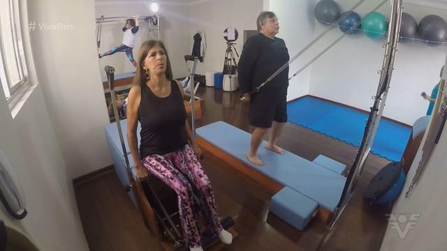 Pilates traz muitos benefícios à saúde dos idosos (Foto: Reprodução/TV Tribuna)
