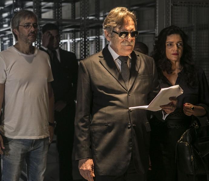 José de Abreu passa o texto, ao olhar do diretor Paulo Silvestrini (Foto: Inácio Moraes/ Gshow)