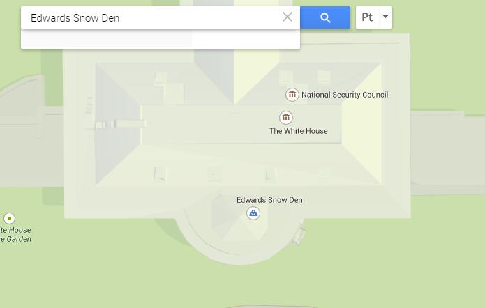 Localização falsa de Edward Snowden foi adicionada no Google Maps (Foto: Reprodução/Google)