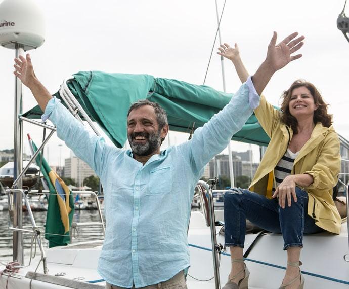 Quanta felicidade! (Foto: Inácio Moraes/Gshow)