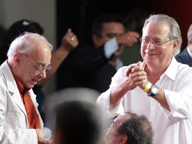 José Dirceu participa de festa (Foto: Daniel Teixeira /Estadão Conteúdo)